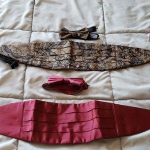 Bow Tie and Cummerbund Set